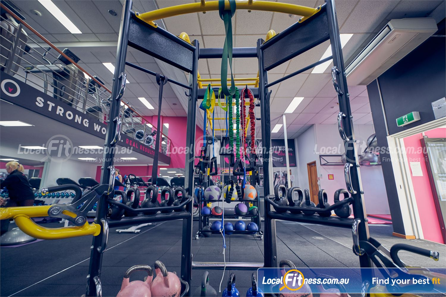 Fernwood Fitness Near Collingwood The fully equipped functional training area and Carlton HIIT gym.