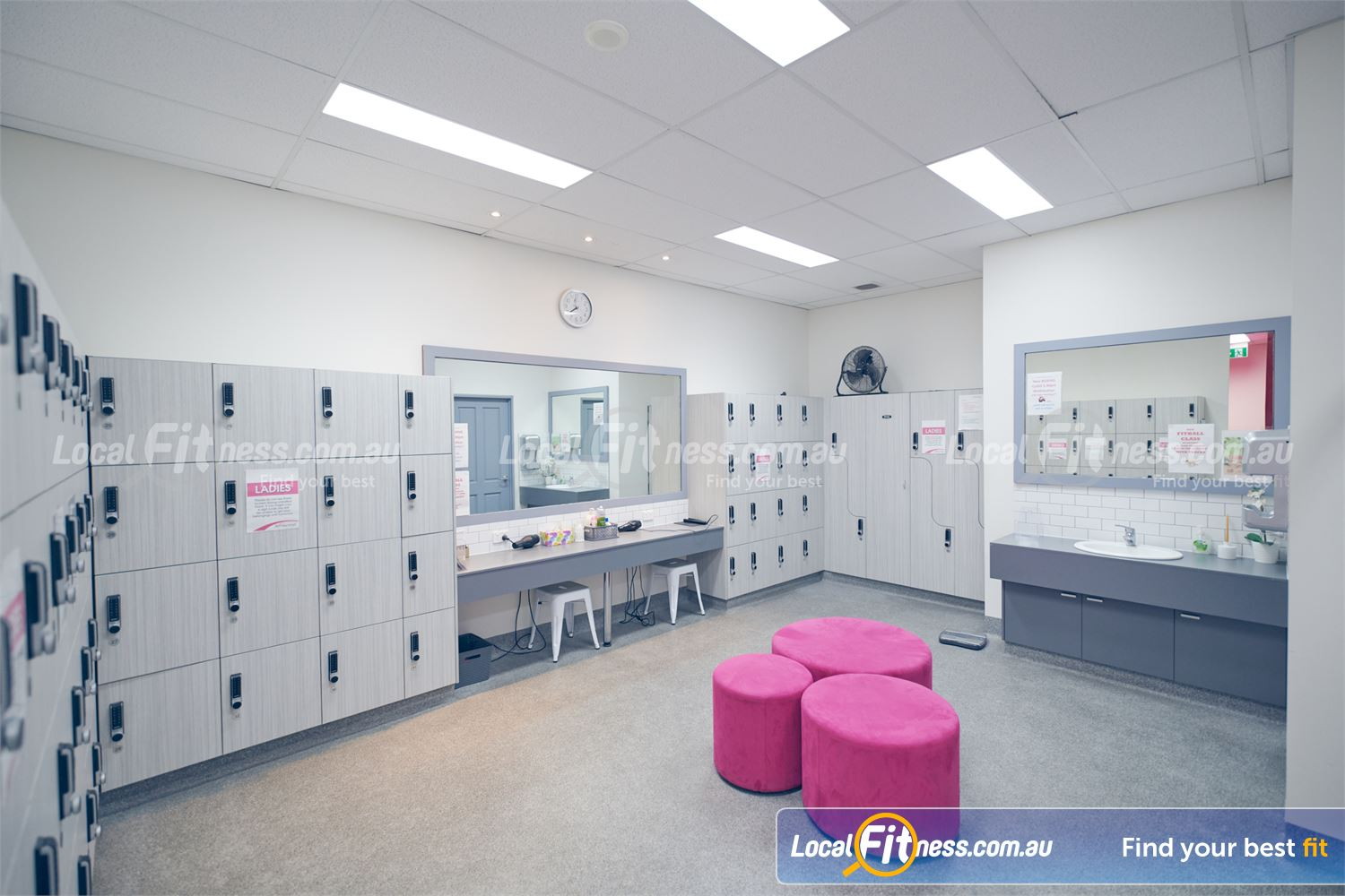 Fernwood Fitness Near Carlton North Our exclusive change rooms provide a Relaxing women's sanctuary.
