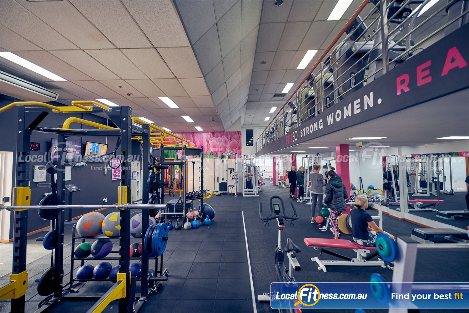 Fernwood Fitness Carlton Our Carlton womens free-weights area includes a full range of dumbbells, barbells and more.
