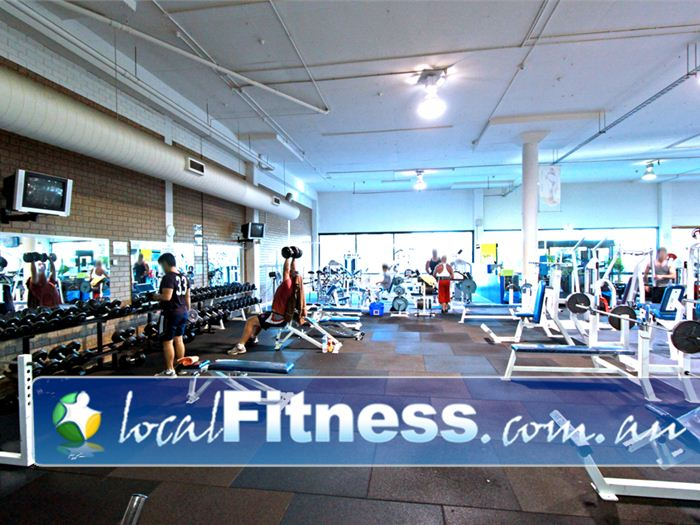 Next Level Fitness HQ Gym Clayton  | Our spacious free weights gym area in Clayton