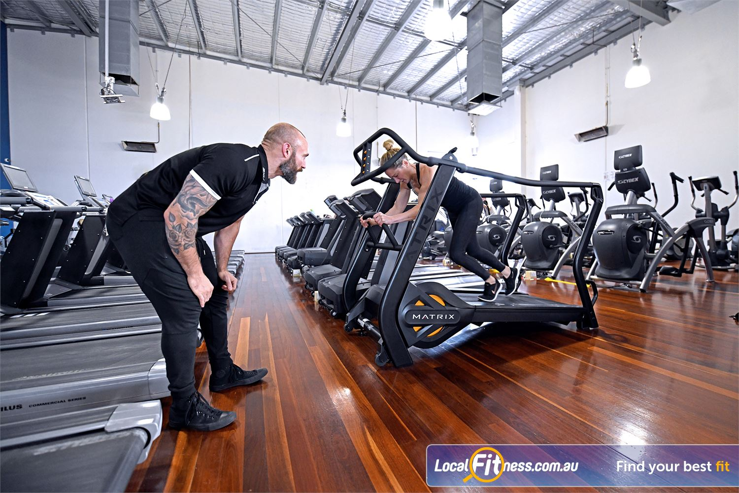 Goodlife Health Clubs Near Moolap Our cardio area includes the MATRIX S-drive performance to simulate sled running.