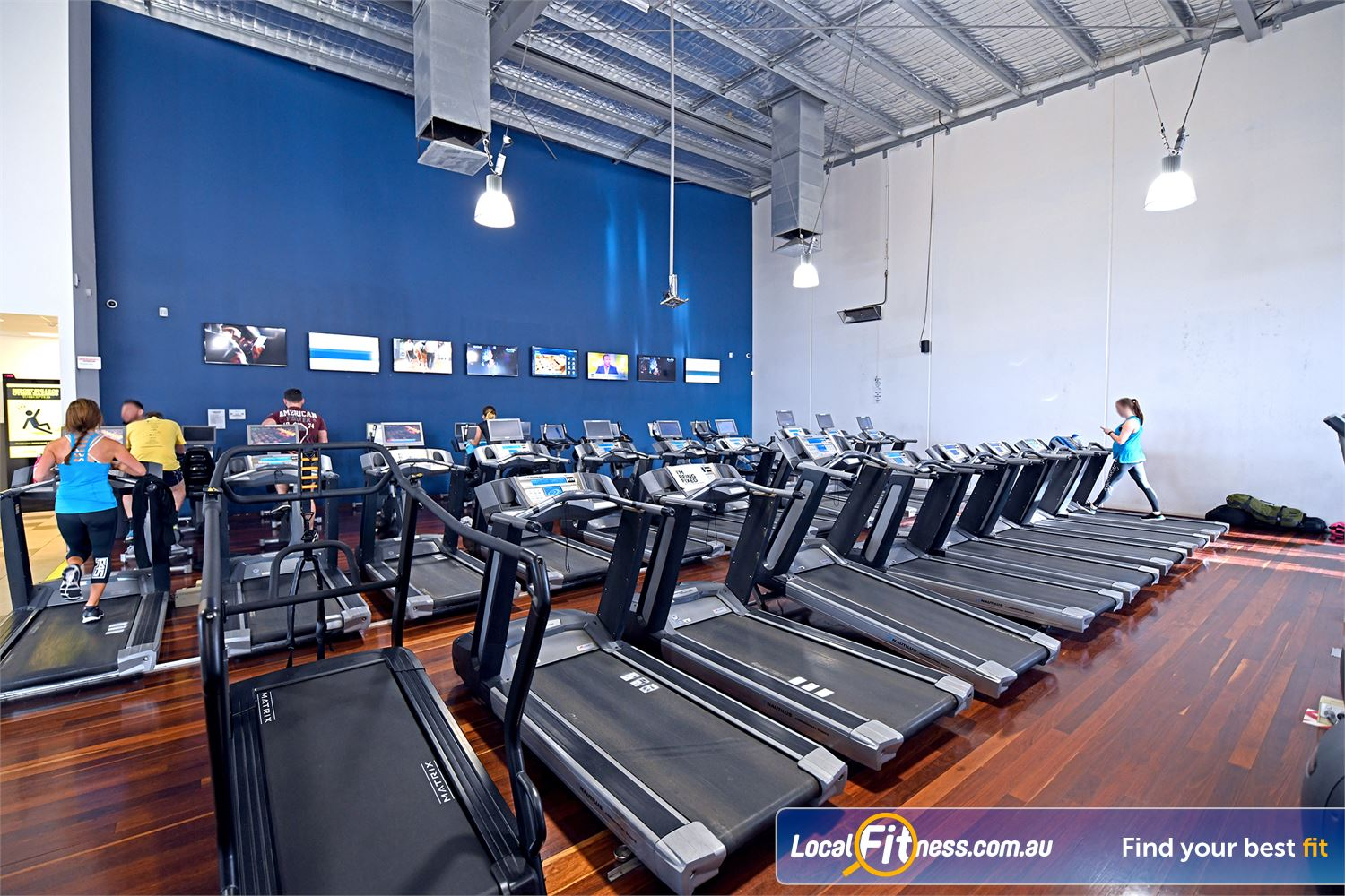 Goodlife Health Clubs Near Newtown Our cardio theatre provides a cinema style feel while you workout.