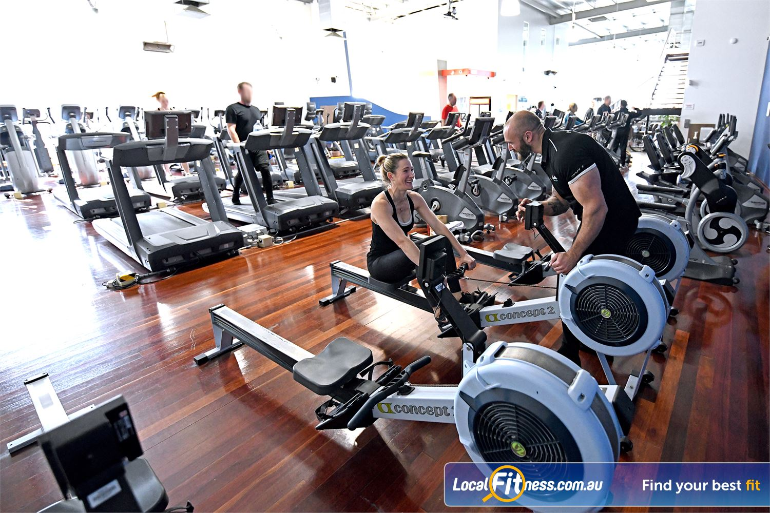 Goodlife Health Clubs Near Moolap Try cardio rowing for an extra fitness boost.