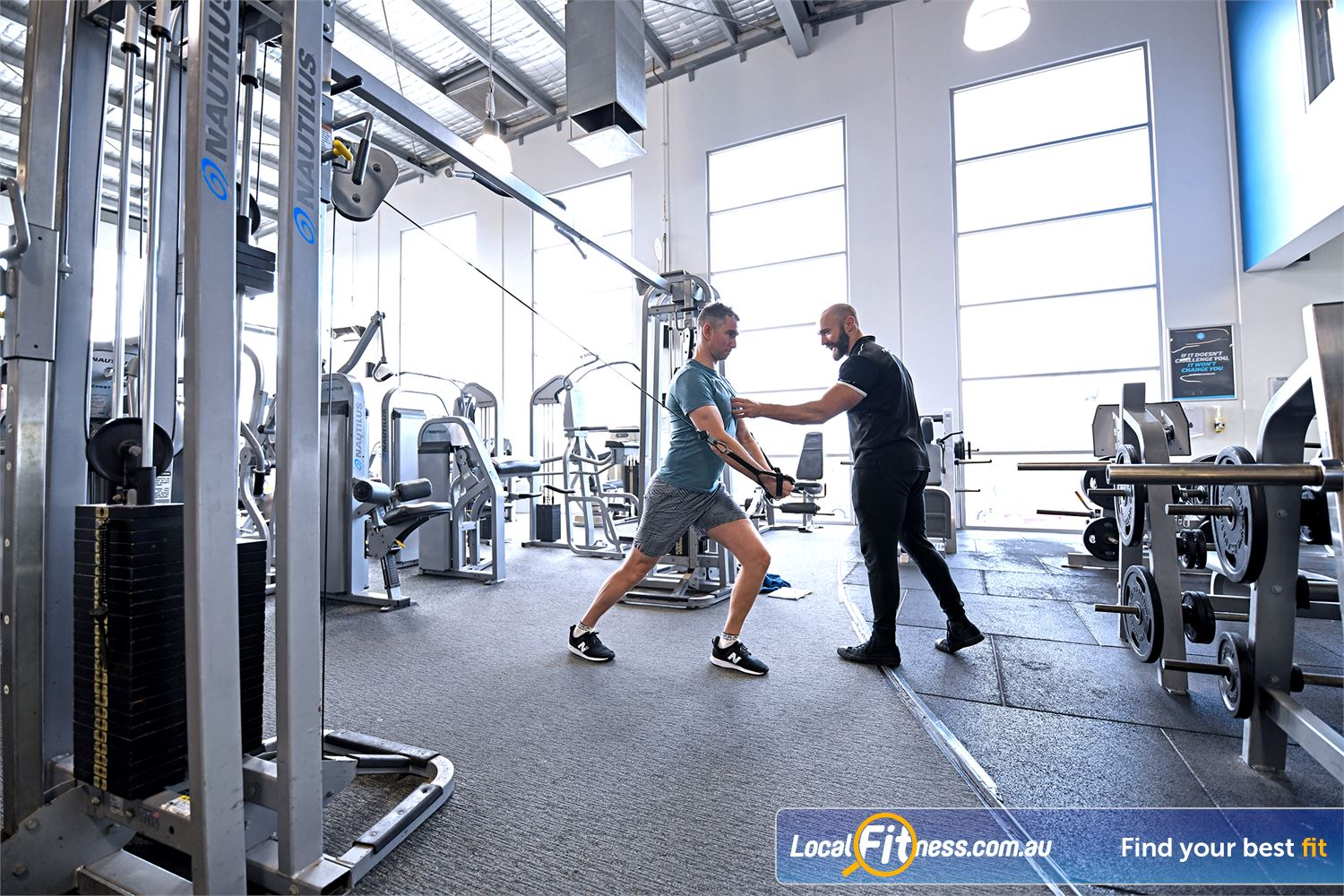 Goodlife Health Clubs Geelong Our Geelong personal trainers can show you the correct way to train.