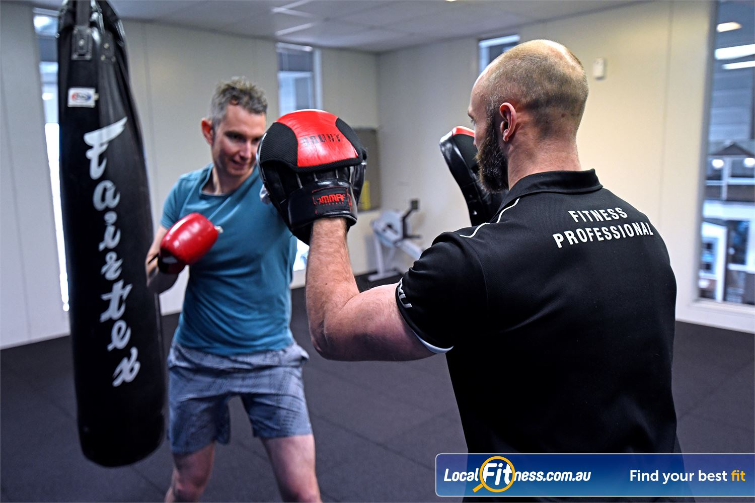 Goodlife Health Clubs Geelong Our Geelong personal trainers can take you through a boxing workout.
