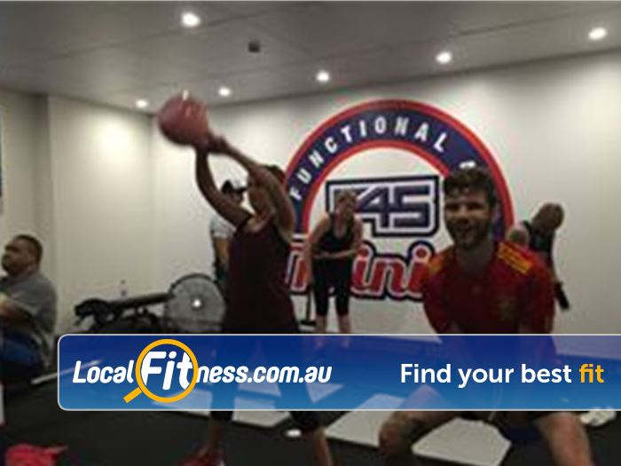 F45 Newtown Near St Peters Kettlebell lifts for days!
