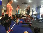 F45 Newtown Camperdown Gym Fitness Team training and a friendly