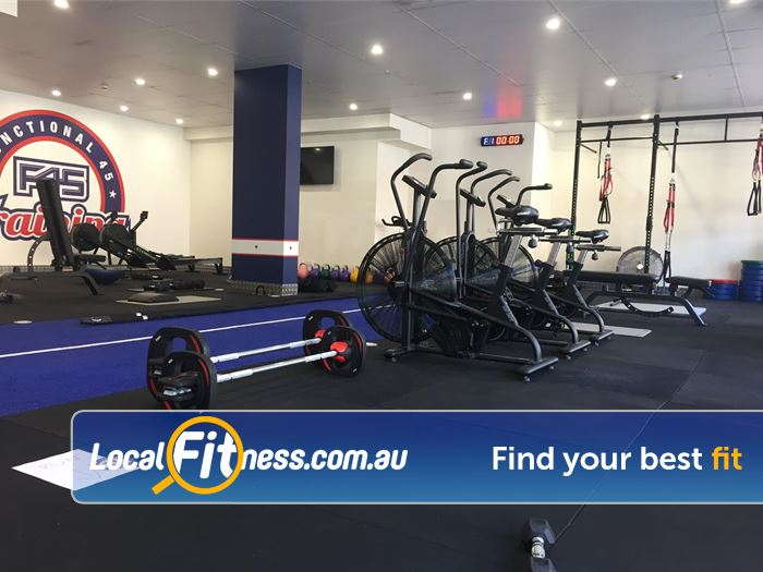 F45 Newtown Near Stanmore Some of the facilities at F45 Newtown.