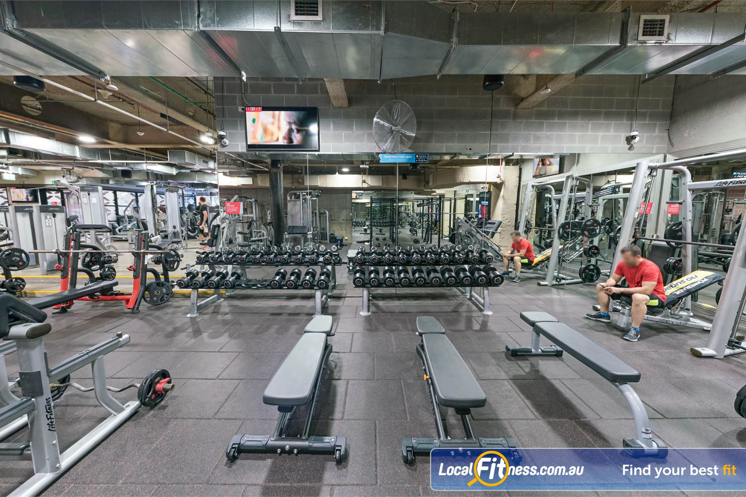 Fitness First Platinum Shelley St Sydney Our 24 hour Sydney gym includes a fully equipped free-weights area.