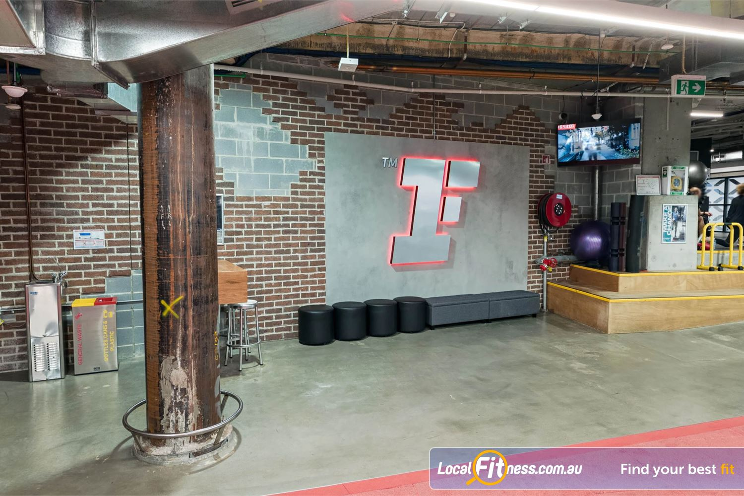 Fitness First Platinum Shelley St Near World Square The spacious freestyle training area in our Sydney gym.