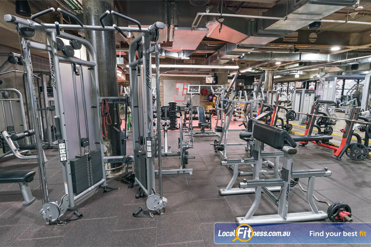 Fitness First Platinum Shelley St Near World Square Our Sydney gym includes easy to use pin and plate loading machines.