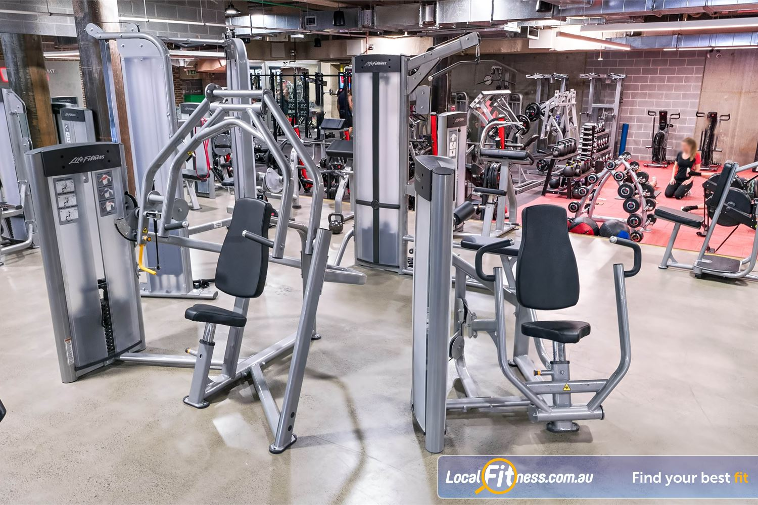 Fitness First Platinum Shelley St Near Strawberry Hills Full range of easy to use pin-loading machines from Life Fitness.