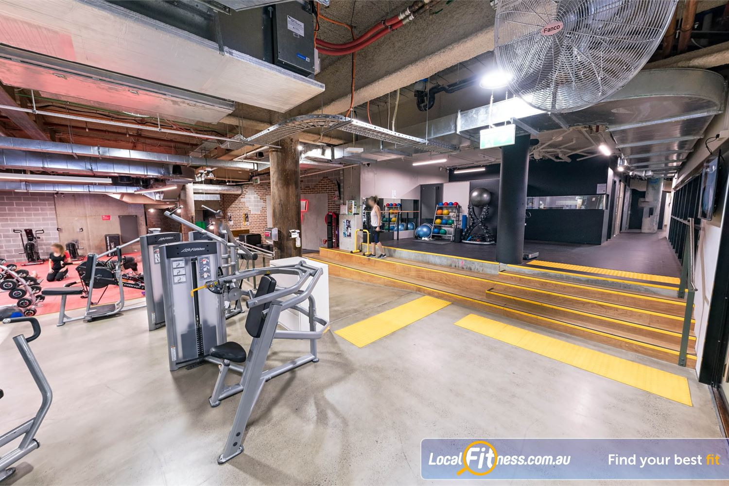 Fitness First Platinum Shelley St Sydney Multiple fitness areas including strength, freestyle, ab and stretching and more.