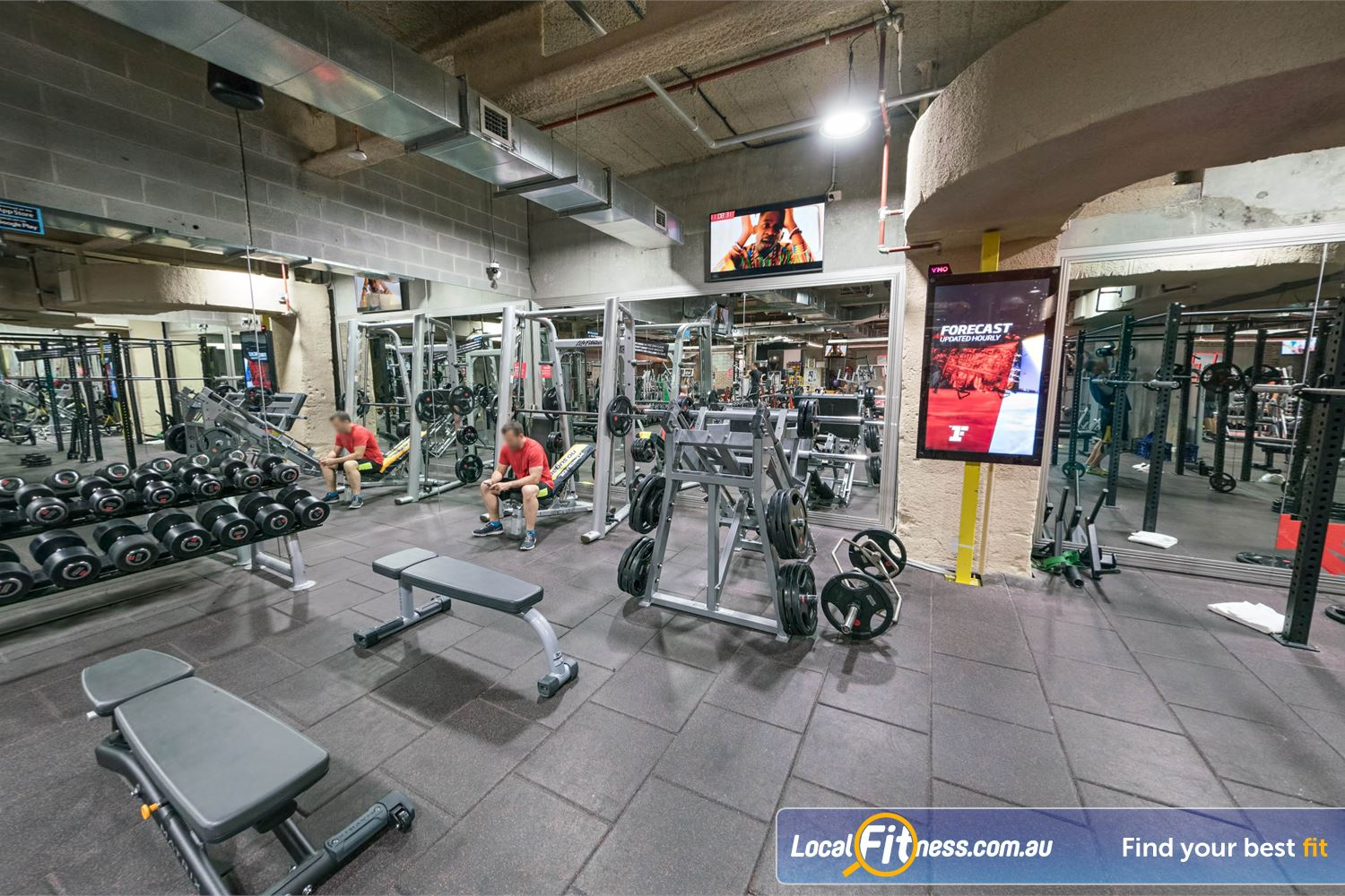 Fitness First Platinum Shelley St Sydney Dumbbells, barbells, benches, smith machines and more.