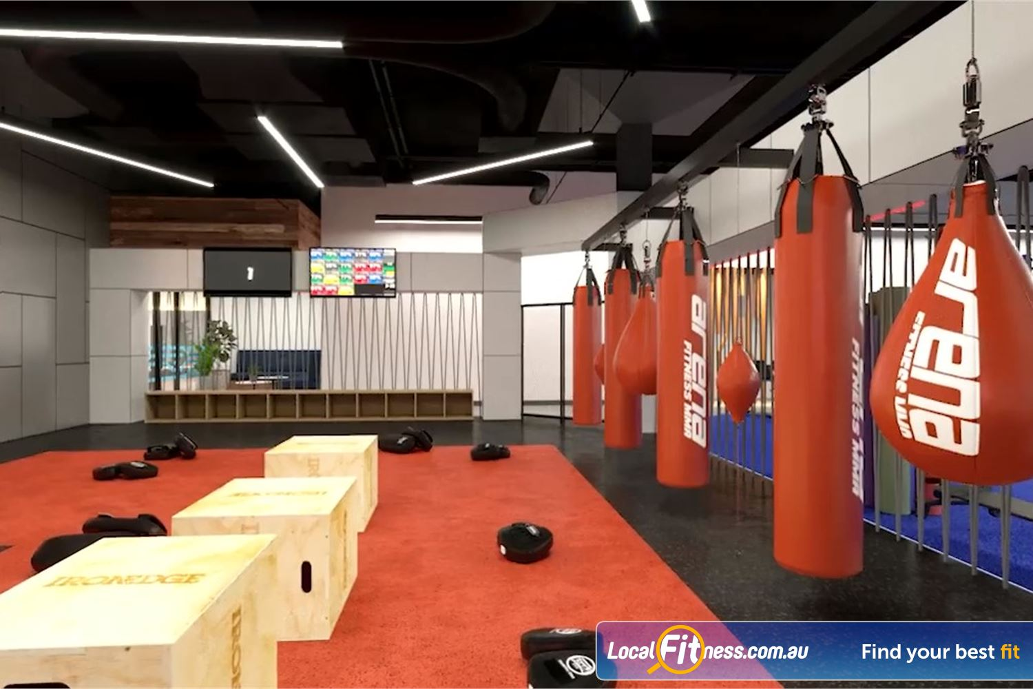 Goodlife Health Clubs Toowoomba The Arena Fitness MMA studio at Goodlife Toowoomba.