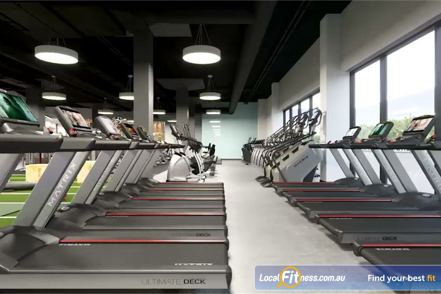 Goodlife Health Clubs Toowoomba Our Toowoomba gym includes rows and rows of cardio machines.