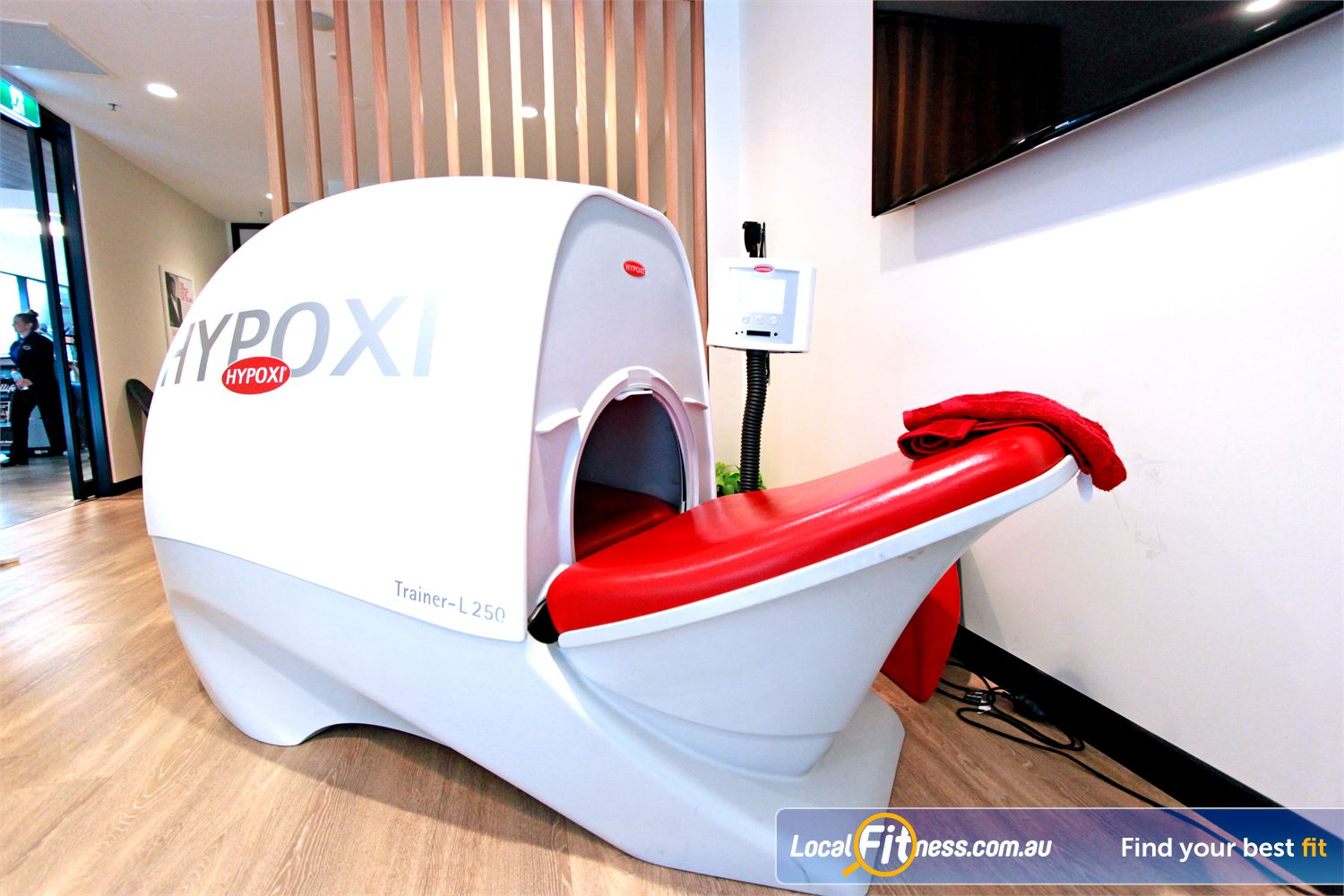 Goodlife Health Clubs Docklands The high tech Hypoxi machines to burn those stubborn areas.