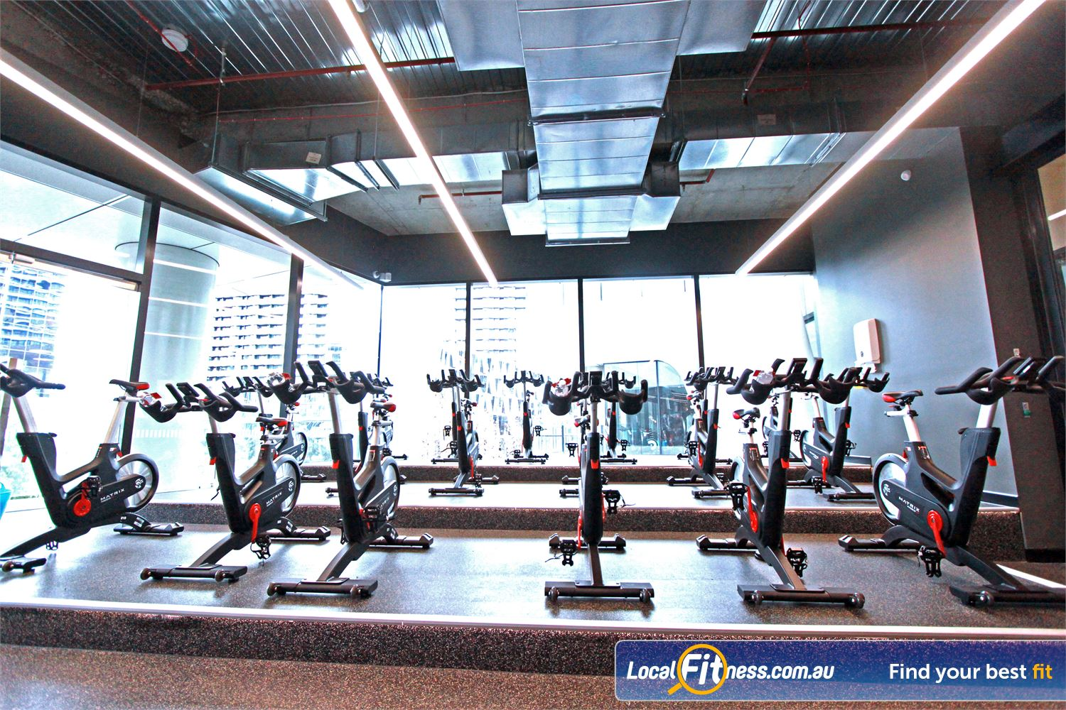 Goodlife Health Clubs Docklands Experience one of the best spin cycle studios in Docklands.
