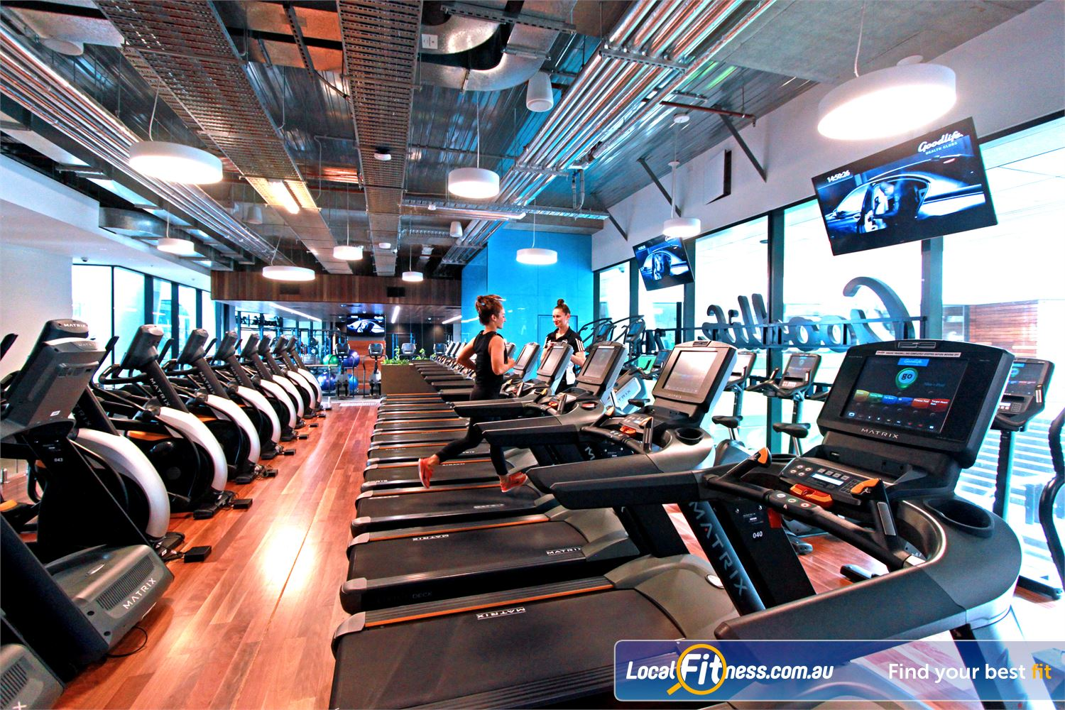 Goodlife Health Clubs Near South Melbourne The cardio zone is a great place to burn those calories in Docklands.