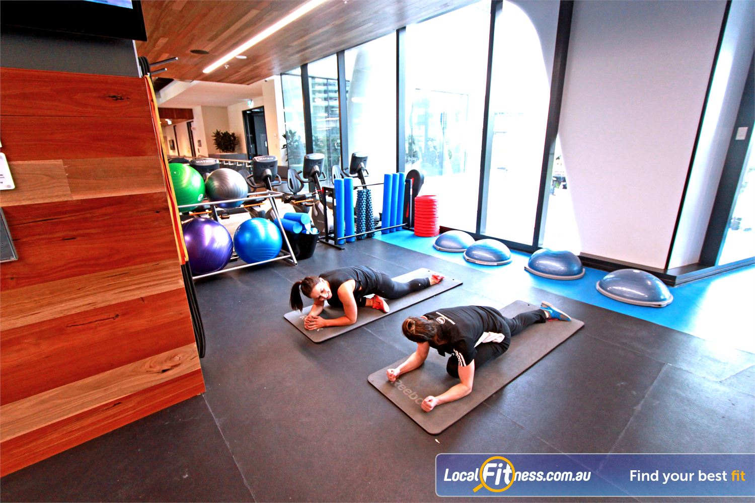 Goodlife Health Clubs Docklands Bosu balls, fitballs, foam rollers, stretching mats and more.