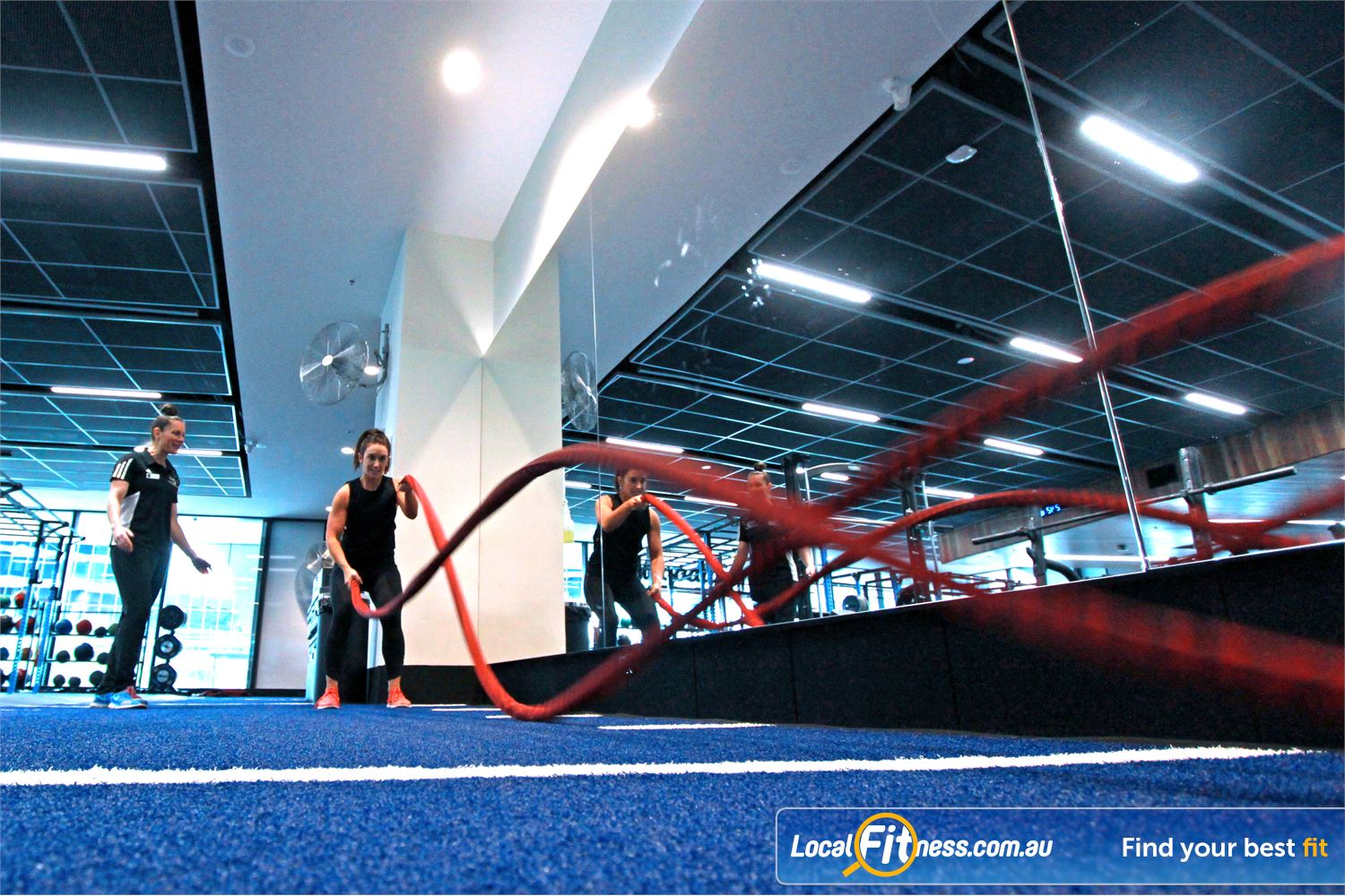 Goodlife Health Clubs Docklands Our Docklands gym team can take you through a functional training routine.