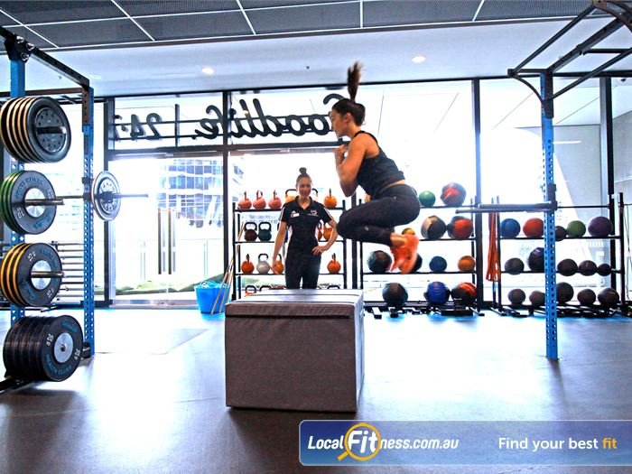 Goodlife Health Clubs HIIT Melbourne  | Get into plyometric training at Goodlife Docklands.