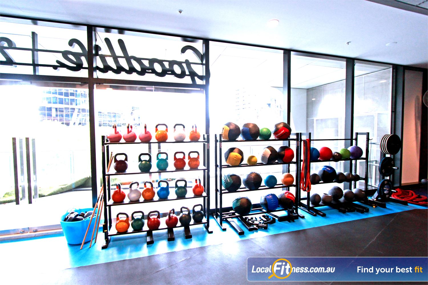Goodlife Health Clubs Near South Melbourne Kettlebells, wall balls, bands, battle ropes, prowler and more.