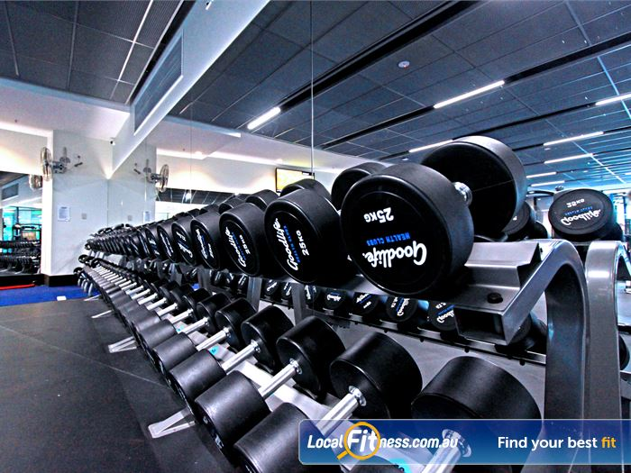 Goodlife Health Clubs South Melbourne Gym Fitness The free-weights area is fully