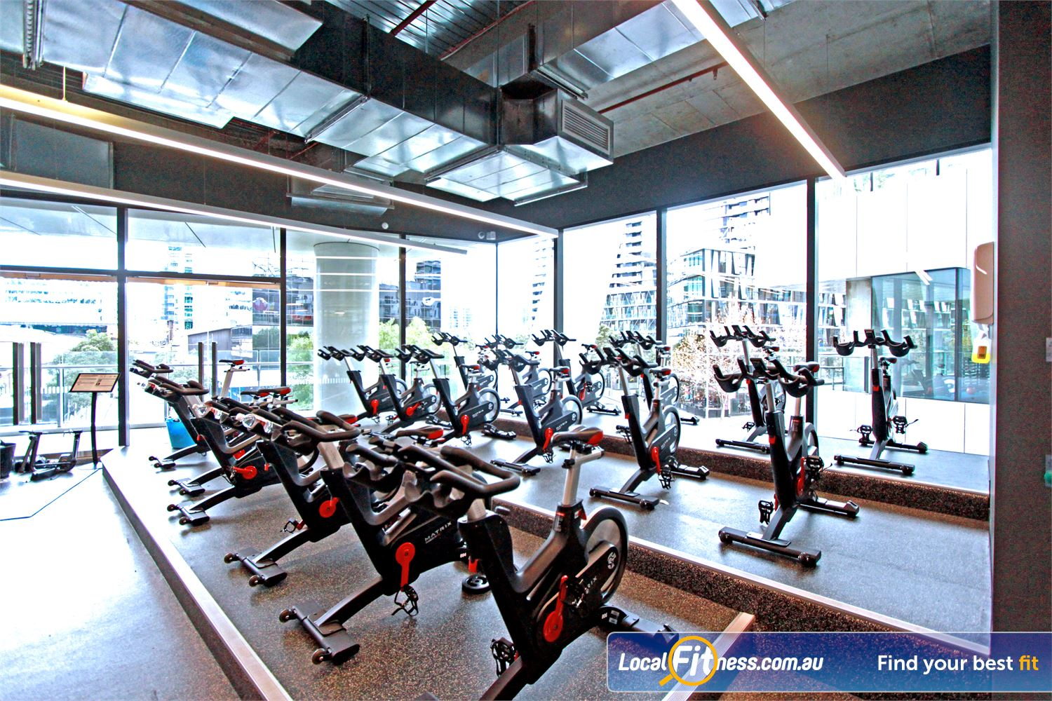 Goodlife Health Clubs Near Port Melbourne Experience one of the best high tech cycle studios in Docklands.