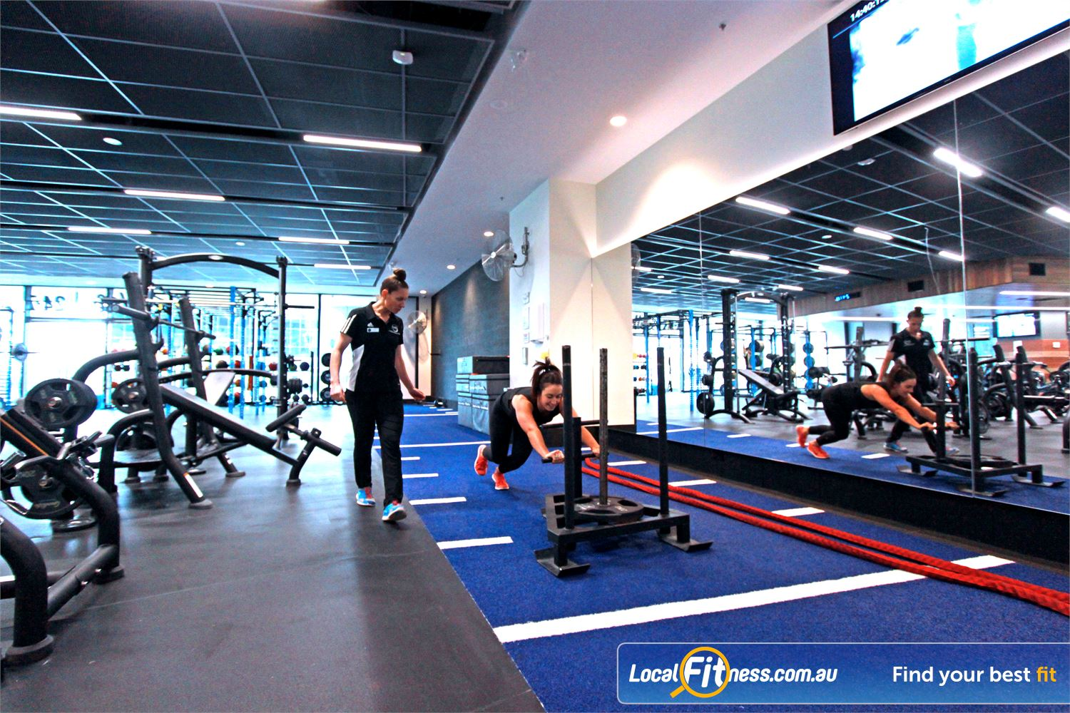 Goodlife Health Clubs Docklands Goodlife Docklands is fully equipped for functional training.
