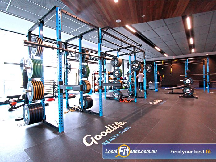 Goodlife Health Clubs North Melbourne Gym Fitness Heavy duty Olympic platforms