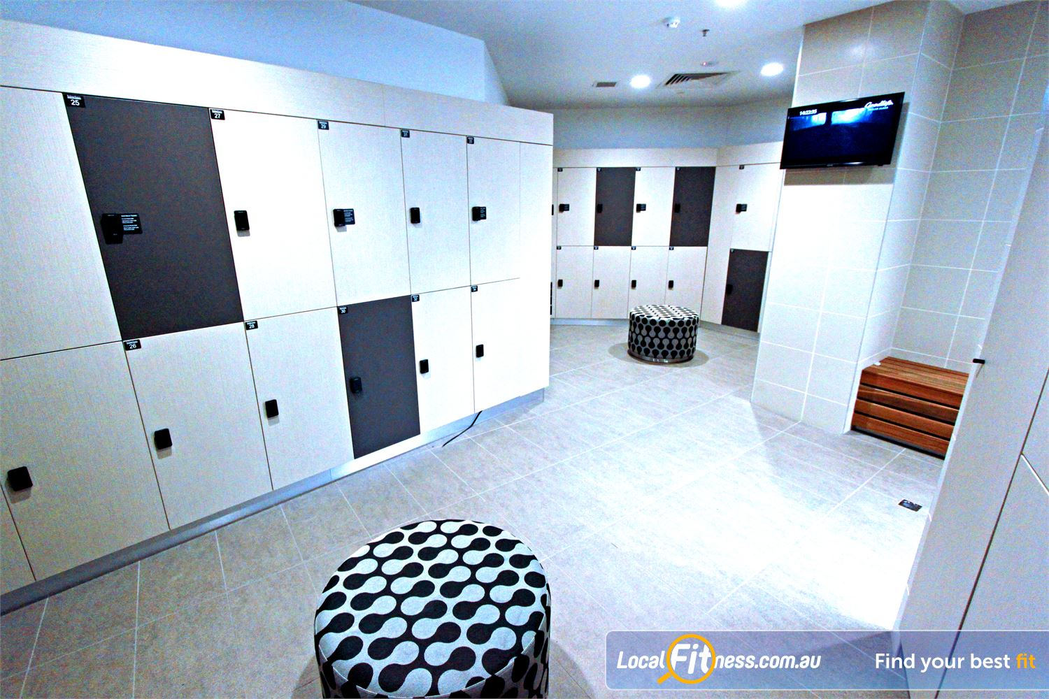 Goodlife Health Clubs Docklands Pamper yourself in the exclusive change rooms in Docklands.