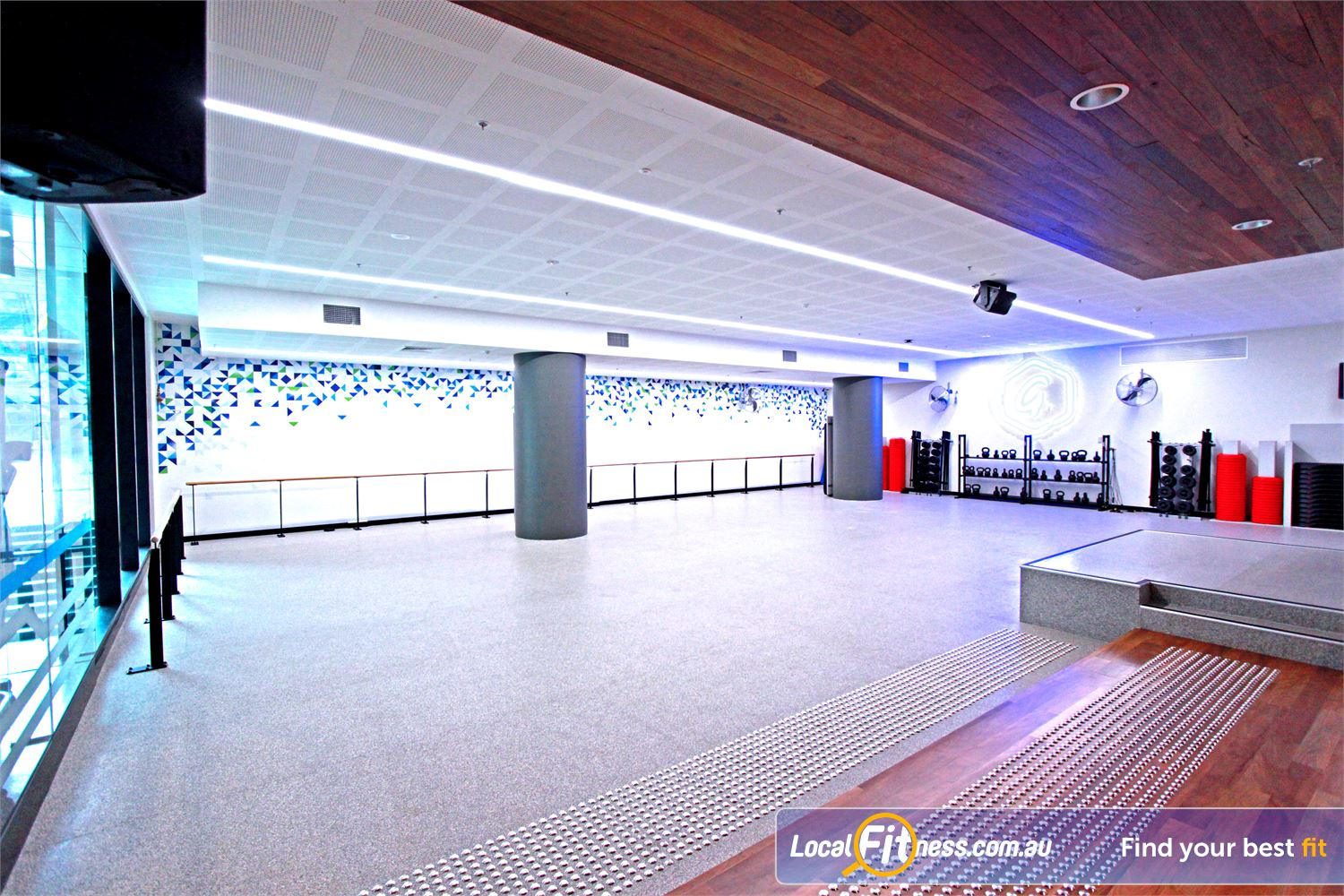 Goodlife Health Clubs Docklands This architecturally-designed Goodlife group fitness studio with over 35 classes.