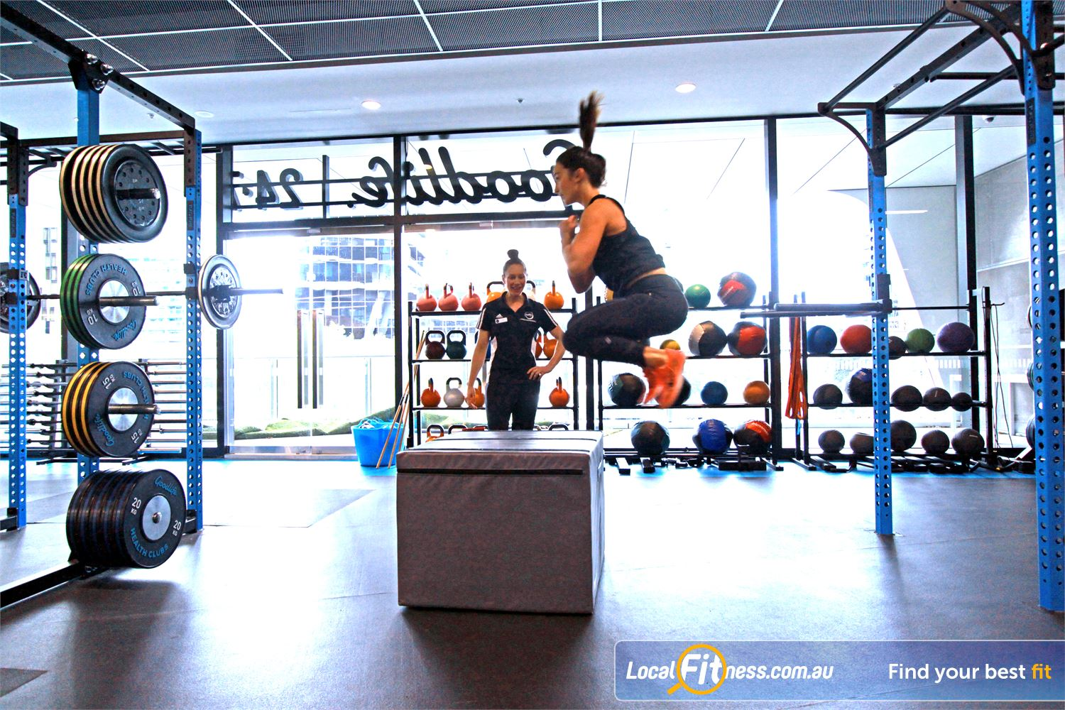 Goodlife Health Clubs Near Port Melbourne Increase power with plyometric training.