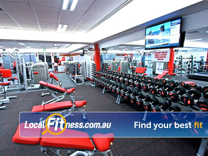 Snap Fitness Gym Bedford  | Free-weights including dumbbells, barbells, benches and more.