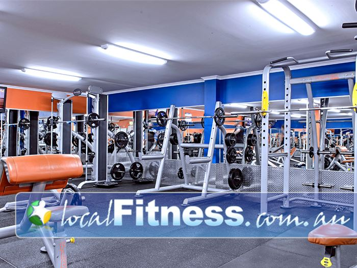 Plus Fitness 24/7 Near Cawdor Heavy duty power and squat racks for your strength training.