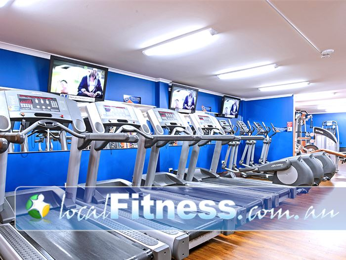 Plus Fitness 24/7 Near Elderslie Watch your favorite shows while you burn calories on the treadmill.
