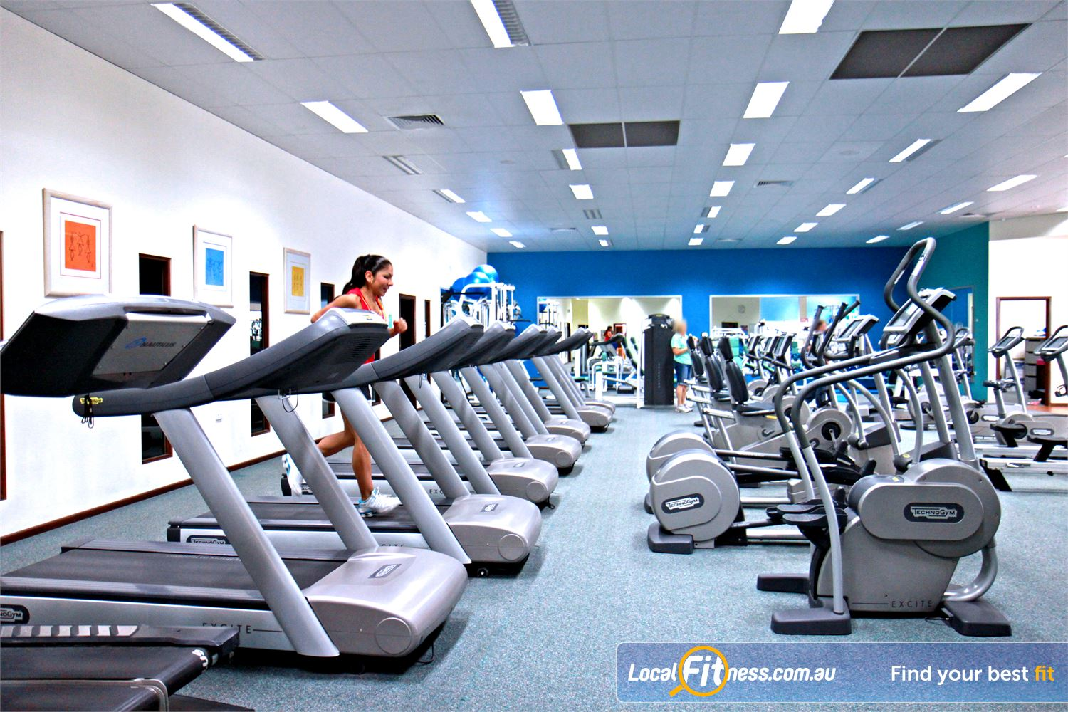 Fernwood Fitness Near Slacks Creek Luxury training with personal entertainment units on our machine.