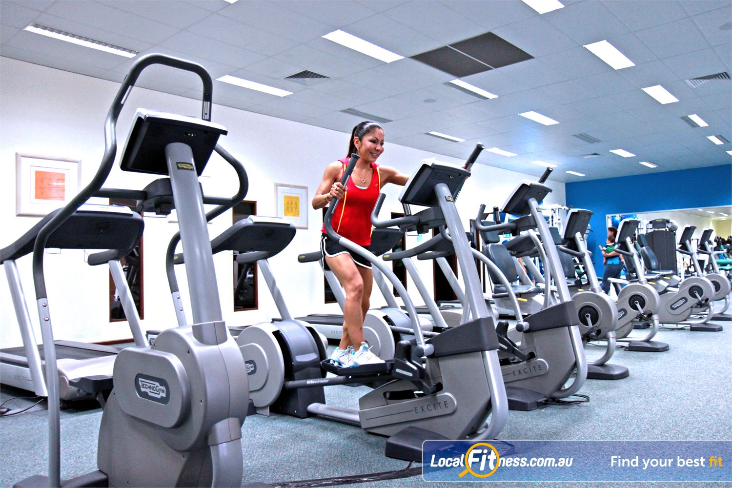 Fernwood Fitness Near Rochedale South Underwood cross trainers add variety to your cardio workout.