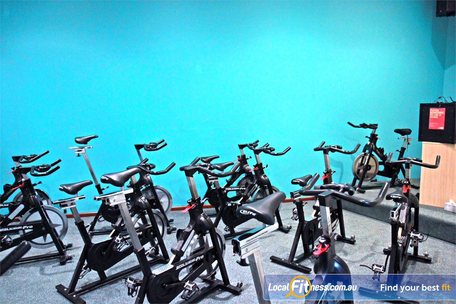 Fernwood Fitness Near Springwood Dedicated Underwood spin cycle studio.