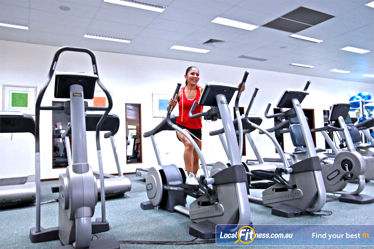 Fernwood Fitness Near Springwood Underwood cross trainers add variety to your cardio workout.