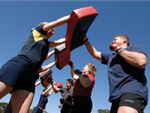 Step into Life St Kilda East Outdoor Fitness Outdoor Combine boxing and kicking and