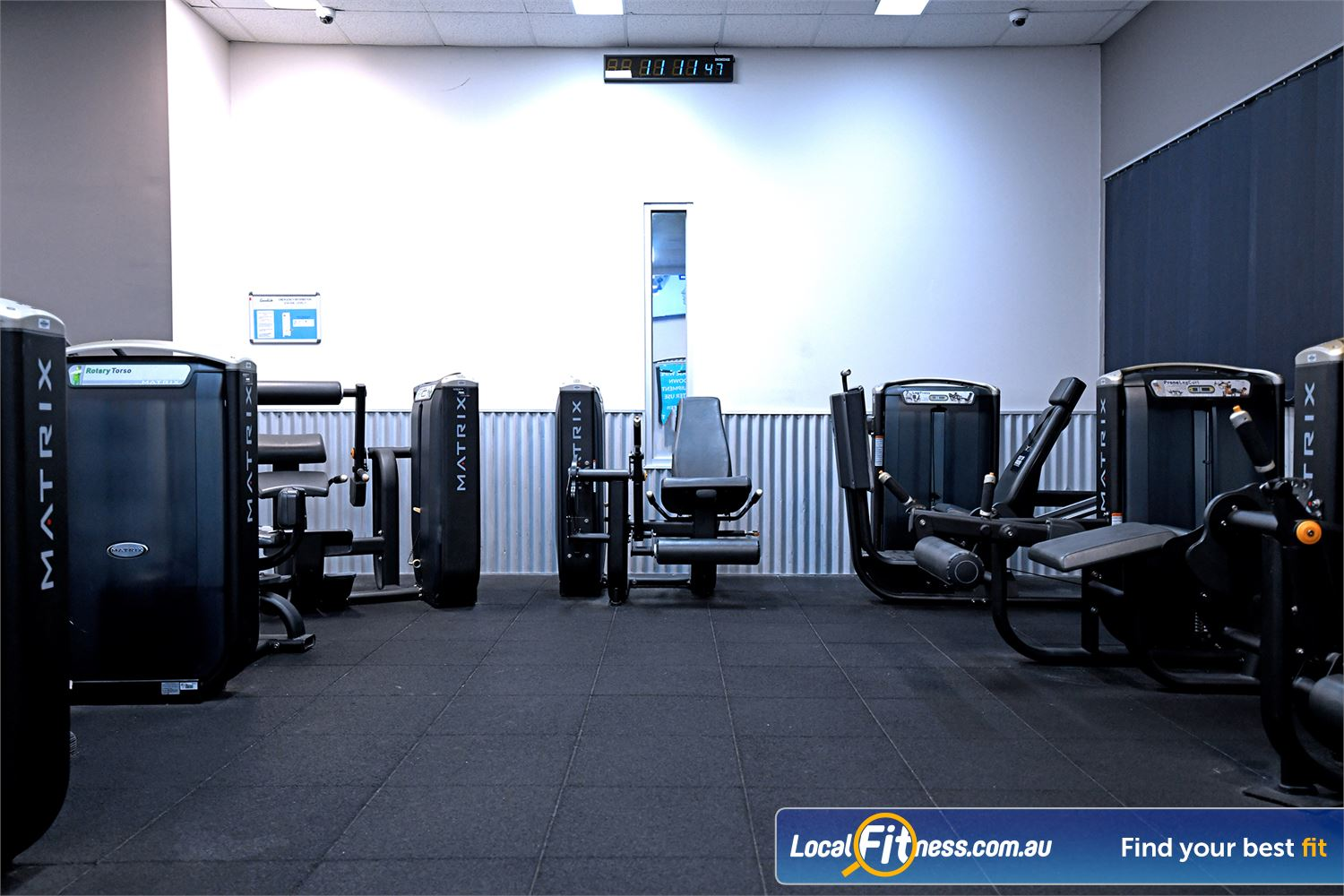 Goodlife Health Clubs Near Werribee State of the art pin-loading equipment from MATRIX.
