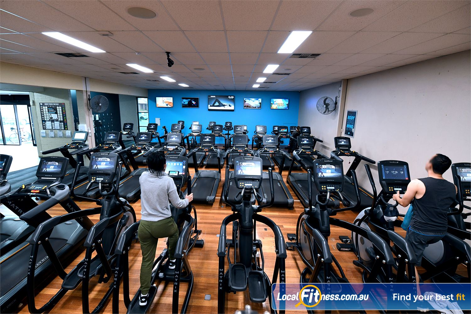 Goodlife Health Clubs Hoppers Crossing Our Hoppers Crossing gym includes a massive cardio theatre.