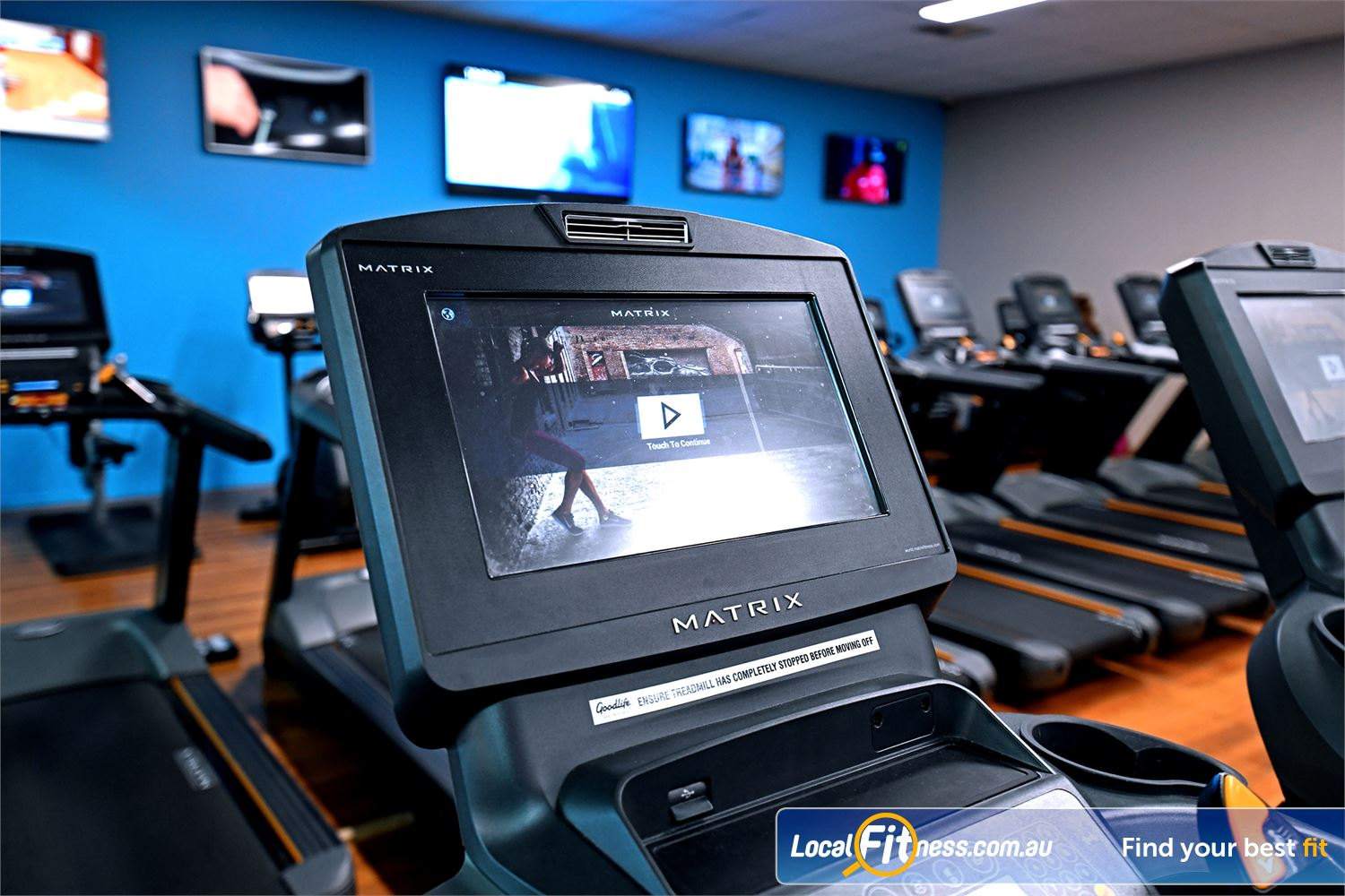Goodlife Health Clubs Hoppers Crossing State of the art cardio with personal entertainment screens.