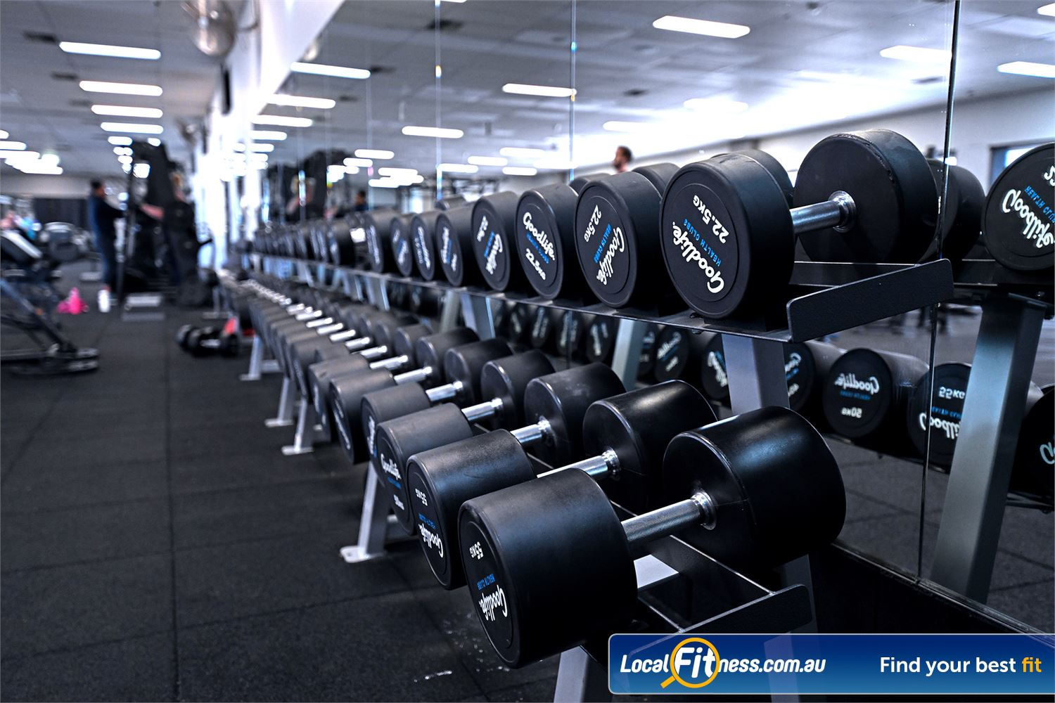 Goodlife Health Clubs Near Tarneit Our 24 hour Hoppers Crossing gym includes dumbbells for all ages and abilities.