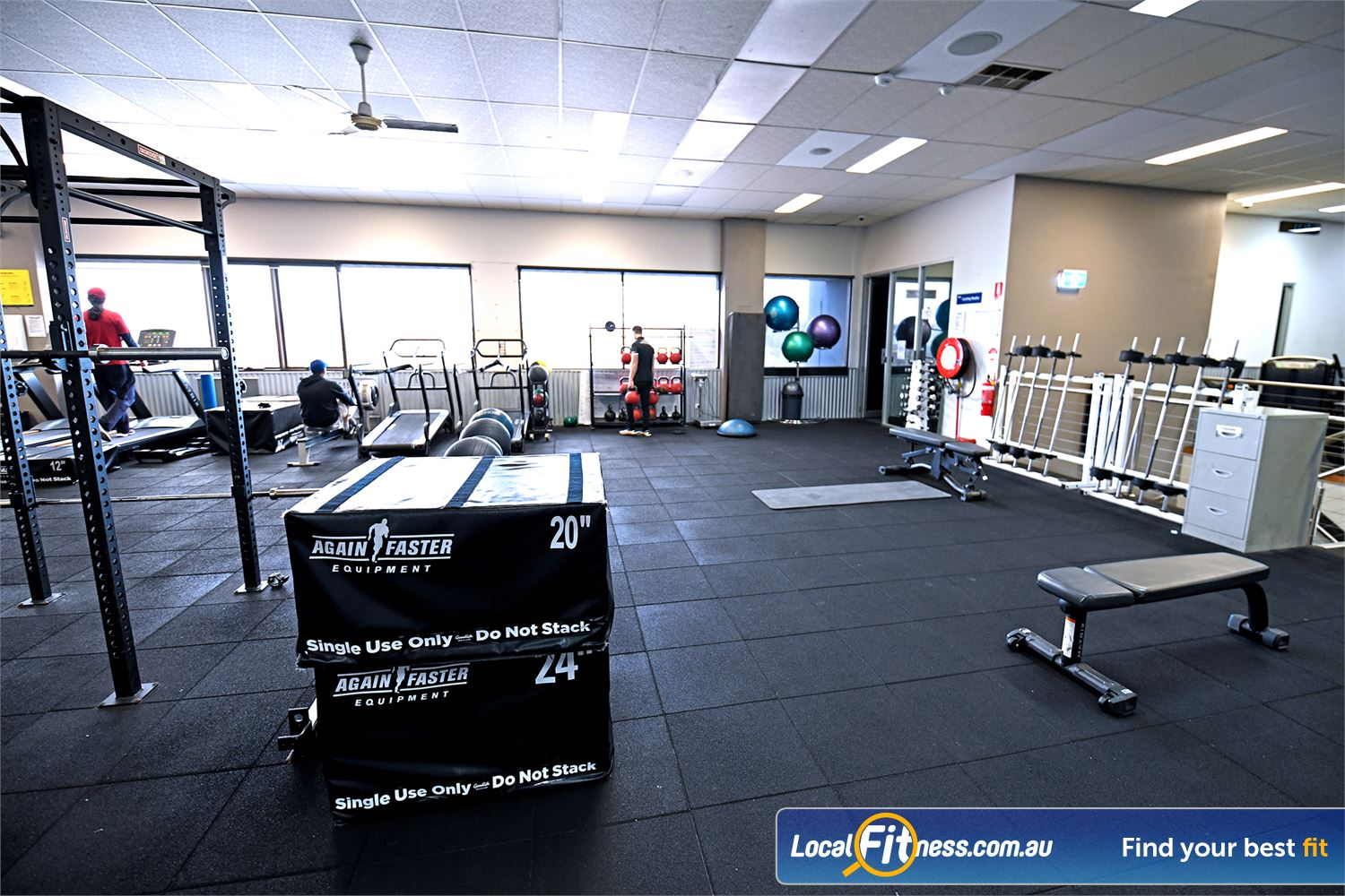 Goodlife Health Clubs Near Tarneit Fully equipped functional training area with plyometric boxes and more.