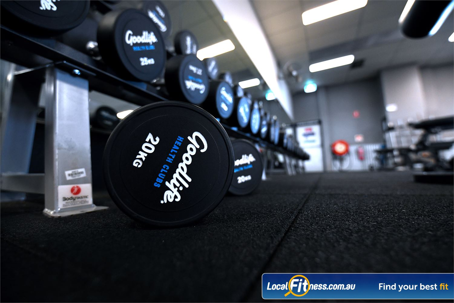 Goodlife Health Clubs Near Werribee Our free-weights gym area includes a full range of dumbbells.