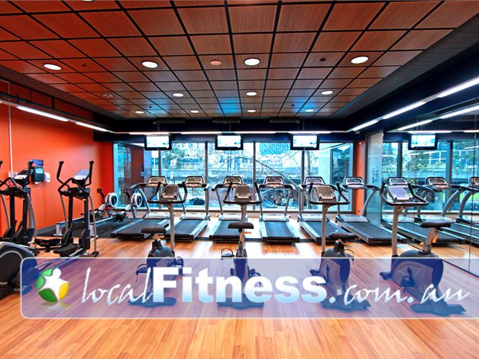 Plus Fitness 24/7 Flinders St Melbourne Gym Fitness The spacious hi-tech cardio