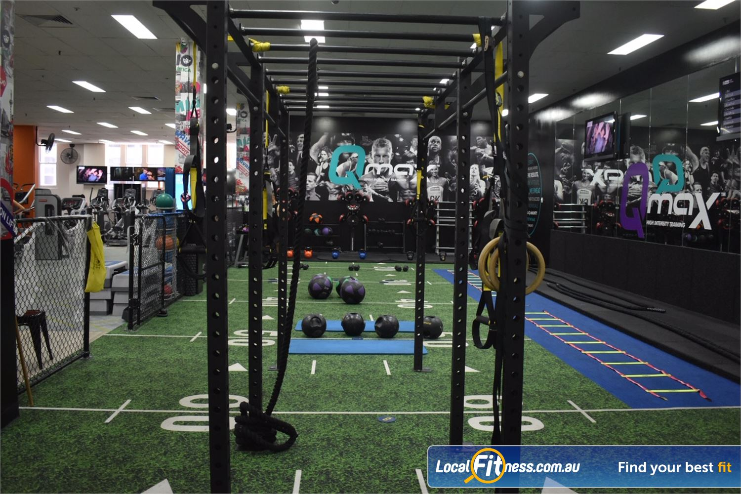 Fit n Fast Near World Square FNF Liverpool St includes a dedicated Sydney HIIT gym space.